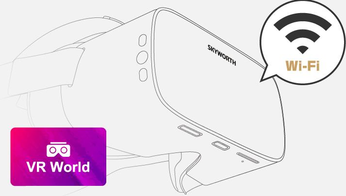 SKYWORTH-4D S801を店舗に持ち込んでWi-Fiに接続するだけで視聴可能です!